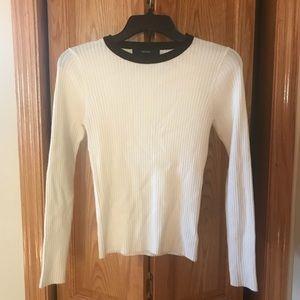 Forever 21 white ribbed sweatshirt